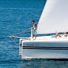 Sailing & Racing Catamaran fun on the bow