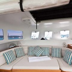 Sailing & Racing Catamaran saloon seating area