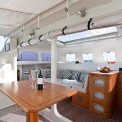 Sailing & Racing Catamaran dining area