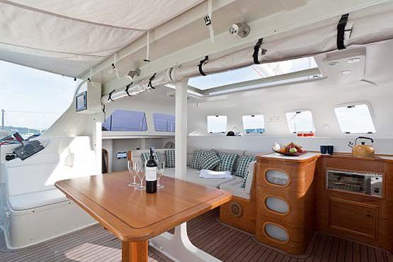 Sailing & Racing Catamaran dining area