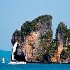 Sailing & Racing Catamaran at one of Phukets Islands