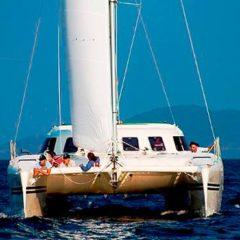 Sailing & Racing Catamaran just off Phuket