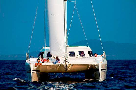 Sailing & Racing Catamaran just off Phuket