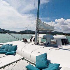 Sailing & Racing Catamaran for deck sunbathing area