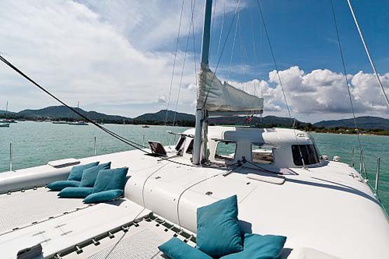 Sailing & Racing Catamaran for deck sunbathing area