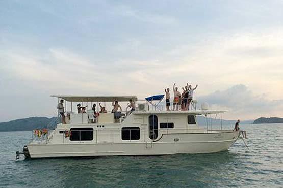 Coastal Cruiser departing port in Phuket
