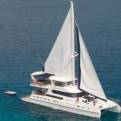 Luxury Sailing & Motor Catamaran under sail