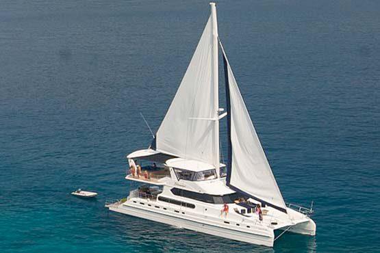 Luxury Sailing & Motor Catamaran under sail