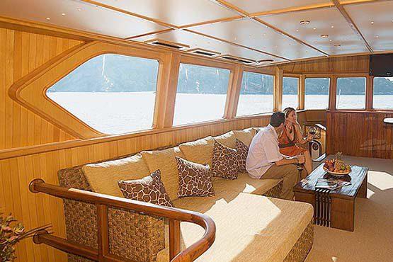 Luxury Sailing & Motor Catamaran luxurious saloon