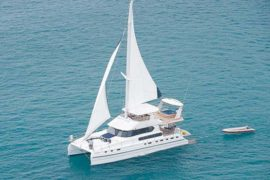 Luxury Sailing & Motor Catamaran cruising in the Andaman Sea