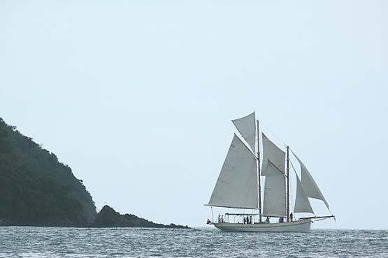 Classic Schooner Sailing Yacht an evening cruise