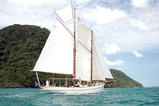 Classic Schooner Sailing Yacht off Promthep Cape