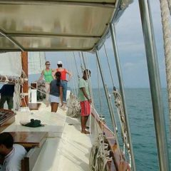 Classic Schooner Sailing Yacht corporate guests