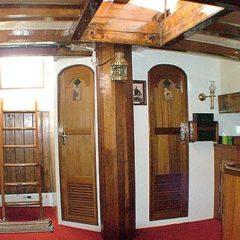 Classic Schooner Sailing Yacht antique luxury saloon