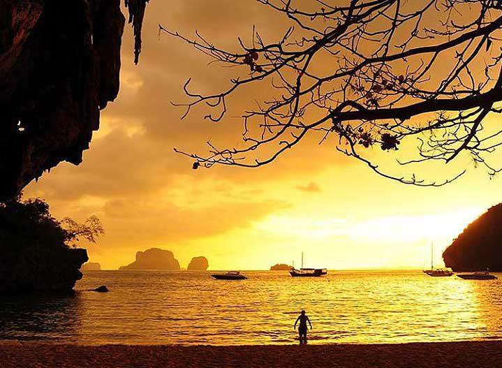 Railay Beach at Sunset