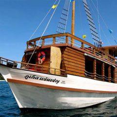 Sailing Junk Heading along Phuket's West Coast