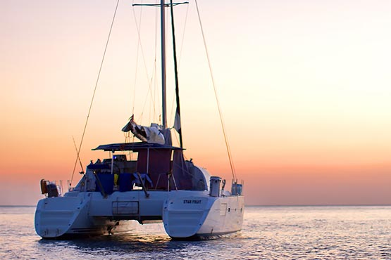 Saling during a Sunset with Epic Charters Phuket