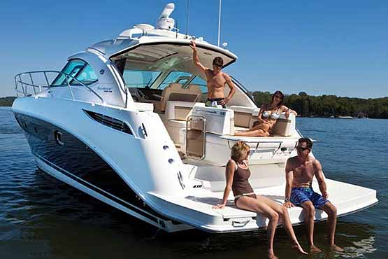 Phukets best Family Yacht Charter on a Luxury 40ft Searay power boat.