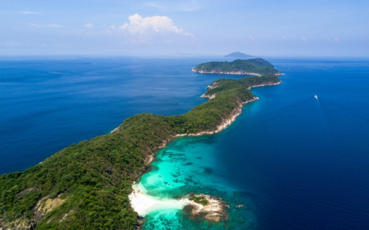 Birds eye view of Racha Islands